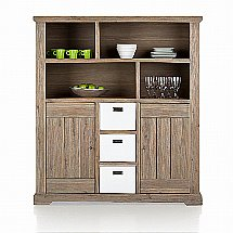 Vale Furnishers - Bronty Open Shelf Dresser