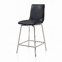 Vale Furnishers - Helix Swivel Bar Stool - Black