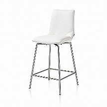 Vale Furnishers - Helix Swivel Bar Stool - White
