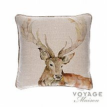Voyage Maison - Country Gregor Linen Stag Cushion