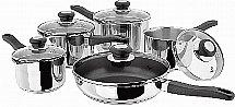 Judge - Vista Draining 5 Piece Pan Set