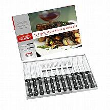 Judge - Sabatier and Judge 12 piece Steak Knife and Fork Set