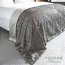 Voyage Maison - Couture Aquilla Bed Throw in Platinum
