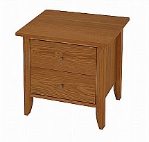 Vale Furnishers - Tonino Two Drawer Bedside Chest