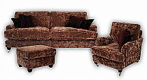 Vale Furnishers - Rushmoor 3 Seat Sofa, Armchair and Footstool