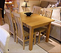Vale Furnishers - Cirrus Extending Dining Table and 4 Chairs
