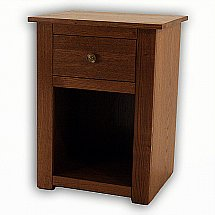 Vale Furnishers - Cirrus Chestnut Finish Bedside Chest