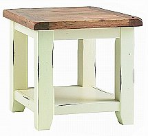 Vale Furnishers - Newport White Painted Lamp Table