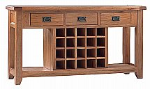 Vale Furnishers - Newport Large Console Table with Wine Rack