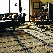 Axminster Carpets - Axminster Patterns Natural Plaid Princetown Collection