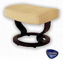 Stressless - Atlantic Footstool in Batick Cream Leather
