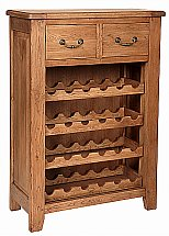 Vale Furnishers - Loseley Wine Rack and Bookcase