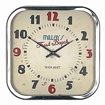 Art Marketing - Vale Furnishers 1950s Diner Wall Clock