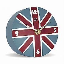 Art Marketing - Vale Furnishers Union Jack Mantel Clock