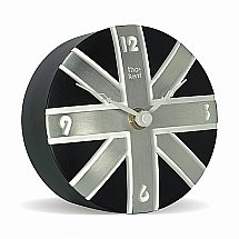 Art Marketing - Vale Furnishers Black Union Jack Mantel Clock