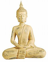 Vale Furnishers -  Sand Finish Lotus Buddha Statue