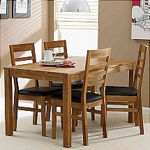 Vale Furnishers - Vale Oak Napoli Dining Set
