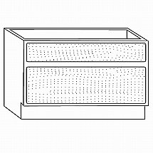 Beaver and Tapley - Tapley 33 Cherry DH33 Two Drawer Base Unit