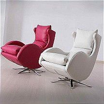 Design Collection - Cordola Swivel Chair - Leather