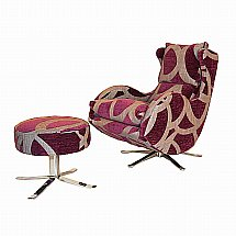 Design Collection - Cordola Swivel Chair - Fabric