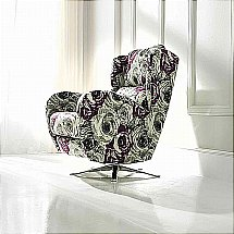 Design Collection - Morgan Swivel Chair - Fabric