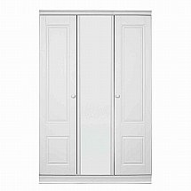 Vale Furnishers - Regatta 3 Door Short Mirrored Wardrobe