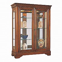 Vale Furnishers - Cork 2 Door Glazed Low Display Cabinet