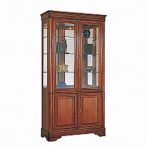 Vale Furnishers - Cork 2 Door Glazed Tall Display Cabinet