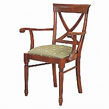 Vale Furnishers - Cork Cross Back Carver Dining Chair