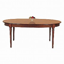 Vale Furnishers - Cork Large Oval Extending Dining Table