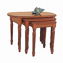 Vale Furnishers - Cork Oval Nest of Tables