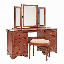 Vale Furnishers - Cork Kneehole Dressing Table