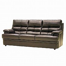 Vale Furnishers - Sofas - Milton Three Seater Leather Sofa