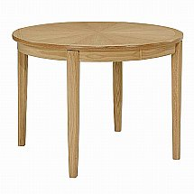 Nathan - Shades in Oak Circular Extending Dining Table with Legs and Sunburst Top