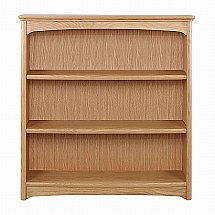 Nathan - Shades in Oak Medium Double Bookcase