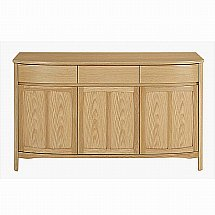 Nathan - Shades in Oak Three Door Sideboard