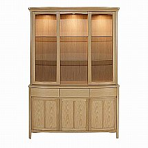 Nathan - Shades in Oak Glass Door Display Top Unit