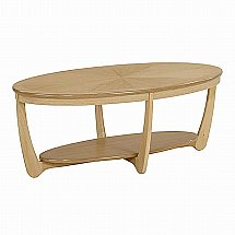 Nathan - Shades in Oak Sunburst Top Oval Coffee Table