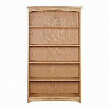 Nathan - Shades in Oak Tall Double Bookcase