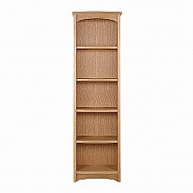 Nathan - Shades in Oak Tall Single Bookcase