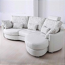 Design Collection - Tunisia White Leather Sofa