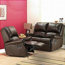 Vale Furnishers - Duke Leather Suite