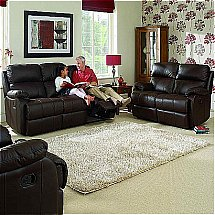 Vale Furnishers - Sofas - Jake Leather Recliner Suite