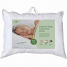 The Fine Bedding Company - Memory Foam Contoured Pillow