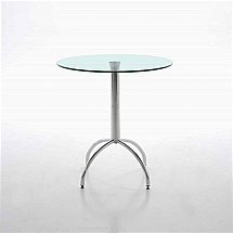 Vale Furnishers - Bistro Small Glass Dining Table